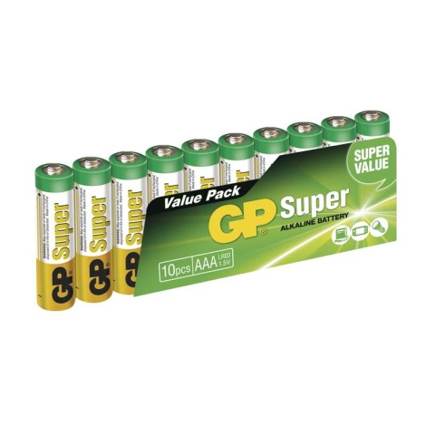 10 ks Bateria alkaliczna AAA GP SUPER 1,5V