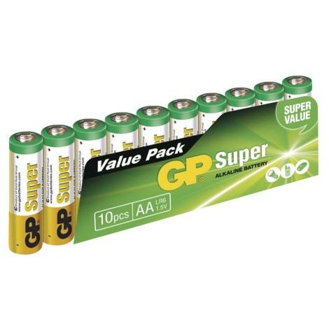 10 szt. Bateria alkaliczna AA GP SUPER 1,5V