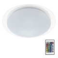 Briloner 3493-016 - LED RGB Plafon ściemnialny 1xLED/12W/230V + DO