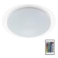 Briloner 3493-016 - LED RGB Plafon ściemnialny 1xLED/12W/230V + zdalne sterowanie IP44