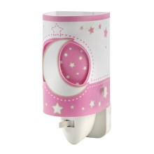 DALBER D-63235LS - LED Lampka do gniazdka PINK MOON LED/0,5W