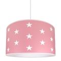 Dziecięca lampa wisząca STARS PINK 1xE27/60W/230V
