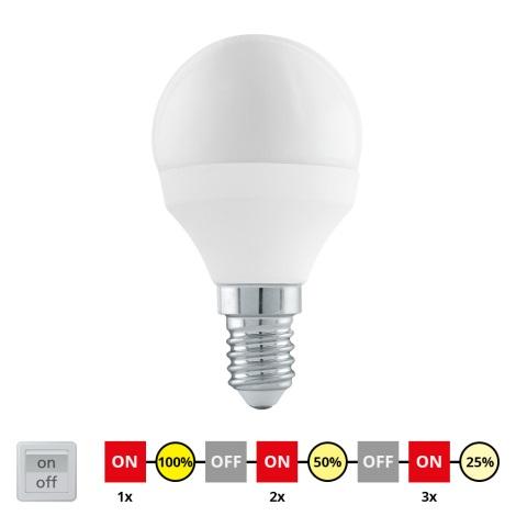 EGLO 11584 - LED Żarówka cyklicznie ściemnialna E14/6W/230V - STEPDIMMING neutralna