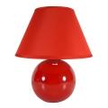Eglo 23876 - Lampa stołowa TINA 1xE14/40W/230V czerwony