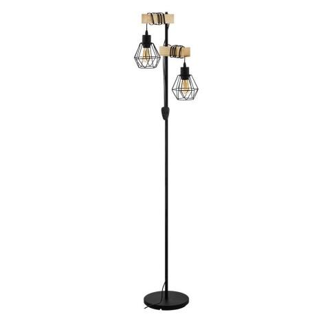 Eglo 43137 - Lampa podłogowa TOWNSHEND 2xE27/60W/230V