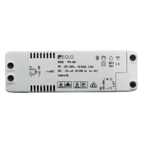 Eglo 80884 -Transformator elektryczny EINBAUSPOT 60W