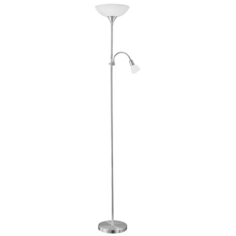EGLO 82842 - Lampa podłogowa UP 2 1xE27/60W + 1xE14/25W nikiel