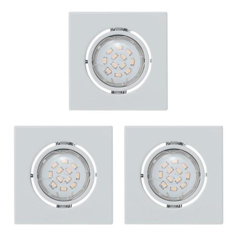 Eglo 93245 - ZESTAW 3x LED oprawa wpuszczana IGOA 3xGU10/5W/230V