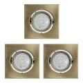Eglo 93248 - ZESTAW 3x LED oprawa wpuszczana IGOA 3xGU10/5W/230V