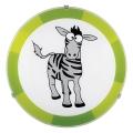 Eglo 94458 - Plafon dziecięcy BIUBIU 1xE27/60W/230V zebra