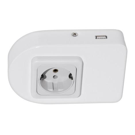 Eglo 94663 - Gniazdko podszafkowe z USB TAXANO