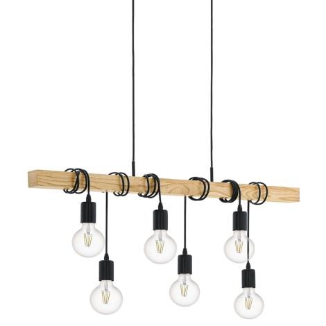 Eglo 95499 - Lampa wisząca TOWNSHEND 6xE27/60W/230V