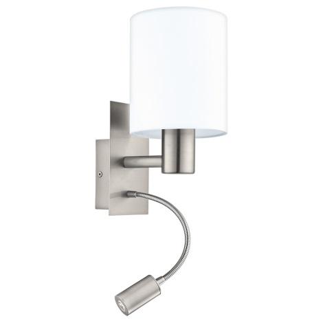 Eglo - LED Kinkiet 1xE27/40W+LED/3,5W biały