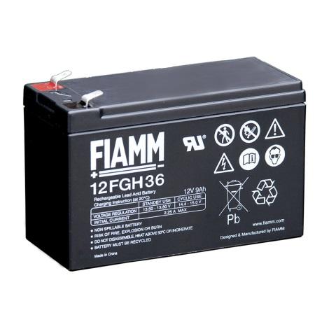 Fiamm 12FGH36 - Akumulator ołowiowy 12V/9Ah/faston 6,3mm