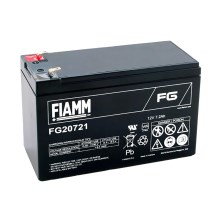 Fiamm FG20721 - Akumulator ołowiowy 12V/7,2Ah/faston 4,7mm