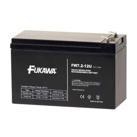 FUKAWA FW 7,2-12 F2U - Akumulator ołowiowy 12V/7,2Ah/faston 6,3mm