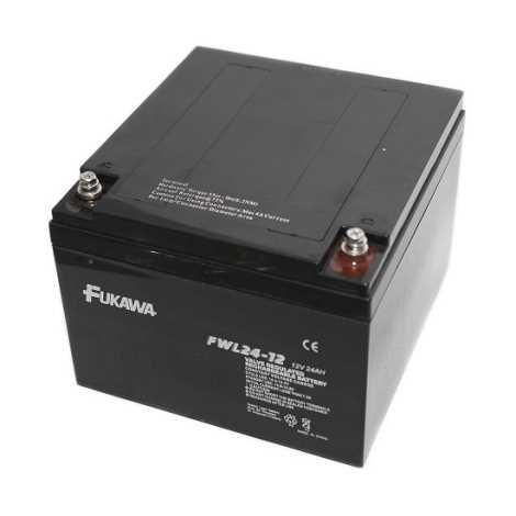 FUKAWA FWL 24-12 - Akumulator ołowiowy 12V/24Ah/gwint M5