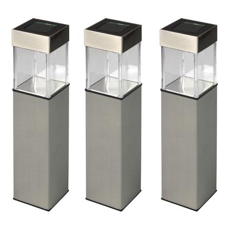 Grundig 90048 - ZESTAW 3x Lampa solarna LED/5,5x28cm