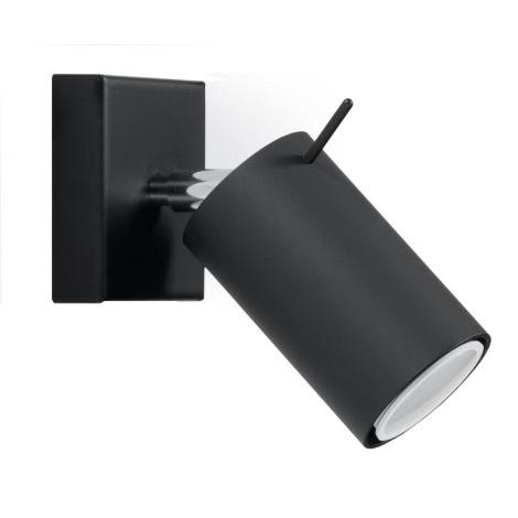 Kinkiet punktowy RING 1xGU10/40W/230V czarny