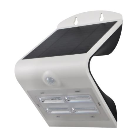 Kinkiet solarny z czujnikiem LED/3,2W IP65 biała