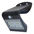 Kinkiet solarny z czujnikiem LED/3,2W IP65 czarna