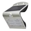 Kinkiet solarny z czujnikiem LED/3,2W IP65 srebrny