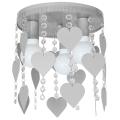 Lampa dziecięca ELZA hearts 3xE27/60W/230V