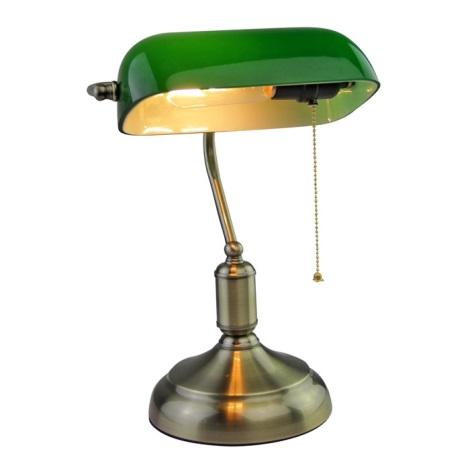 Lampa stołowa BANKER 1xE27/60W/230V