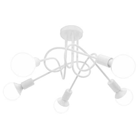 Lampa sufitowa OXFORD 5xE27/60W/230V biały