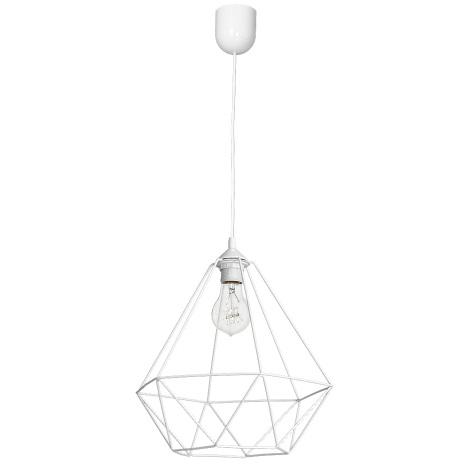 Lampa wisząca BASKET 1xE27/60W/230V biały
