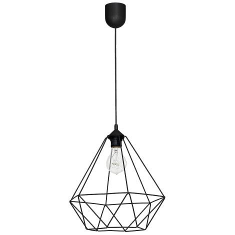 Lampa wisząca BASKET 1xE27/60W/230V czarny