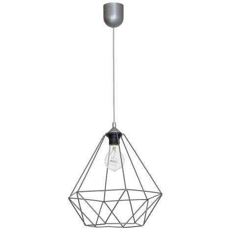 Lampa wisząca BASKET 1xE27/60W/230V szary