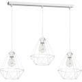 Lampa wisząca BASKET 3xE27/60W/230V biały