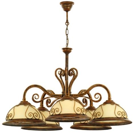 Lampa wisząca VERDA VE/5 5xE27/60W brąz