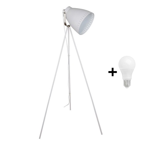 LED Lampa podłogowa 1xE27/10W/230V biały 145cm
