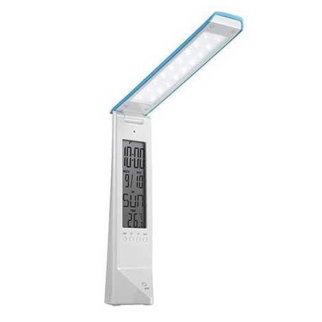 LED Multyfunkcyjna ściemnialna lampa stołowa DAISY LED/1,6W/USB biało-niebieska