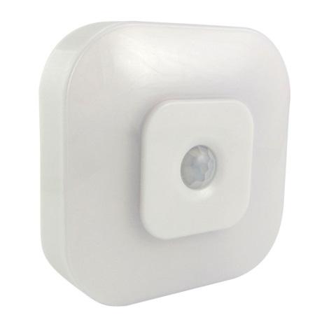 LED Nocne światło z czujnikiem LED/0,5W/3xAAA białe