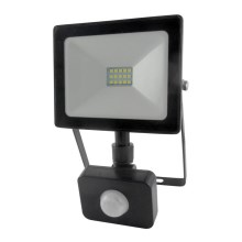 LED Reflektor z czujnikiem LED/10W/230V IP64 800lm 4200K