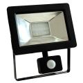 LED Reflektor z czujnikiem NOCTIS 2 SMD LED/20W/230V IP44 1350lm czarny