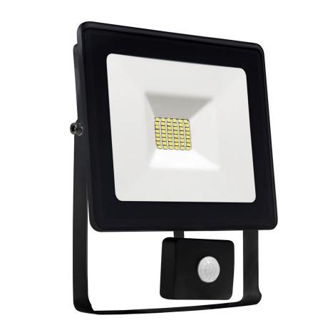 LED Reflektor z czujnikiem NOCTIS LUX SMD LED/10W/230V IP44 900lm czarny