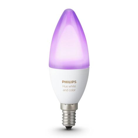 LED RGB Ściemnialna żarówka Philips HUE E14/6W/230V
