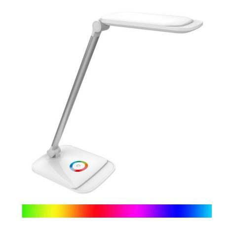 LED RGB Ściemniana lampa stołowa dotykowa LED/18W/230V + USB
