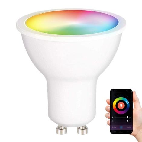 LED RGB Ściemniana żarówka GU10/5W/230V 2700-6500K Wi-Fi Tuya