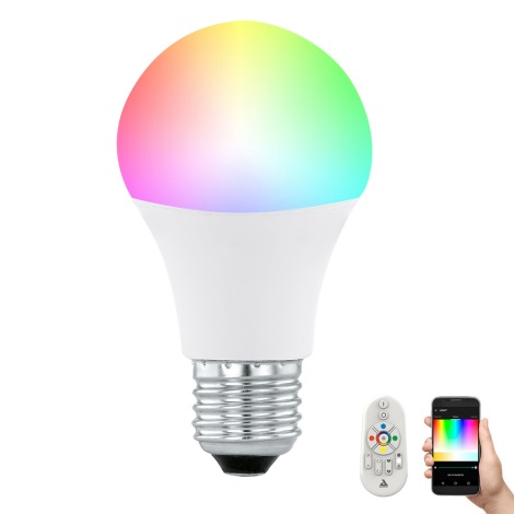 LED Ściemnialna żarówka CONNECT E27/9W + zdalne sterowanie - Eglo 11585
