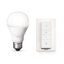 LED ściemnialna żarówka Philips HUE WIRELESS DIMMING KIT 1xE27/9,5W/230V - 8718696452523