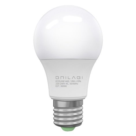 LED Żarówka ECOLINE A60 E27/10W/230V 3000K - Brilagi