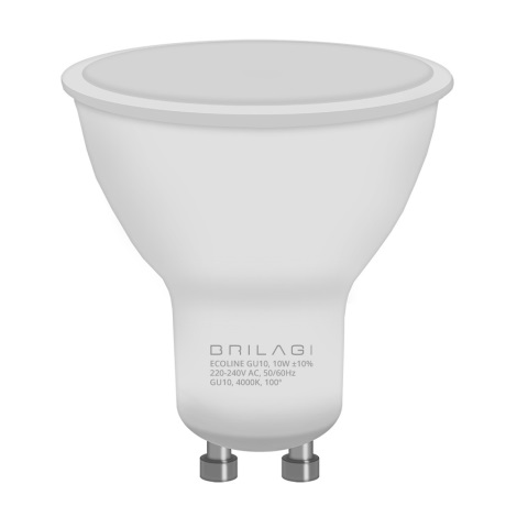 LED Żarówka ECOLINE GU10/10W/230V 4000K - Brilagi