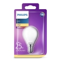 LED Żarówka Philips E14/2,2W/230V 2700K