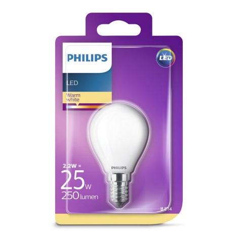 LED Żarówka Philips E14/2,2W/230V