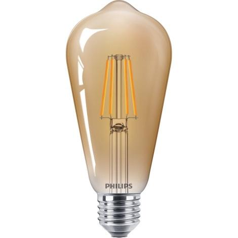 LED Żarówka VINTAGE Philips ST65 E27/4W/230V
